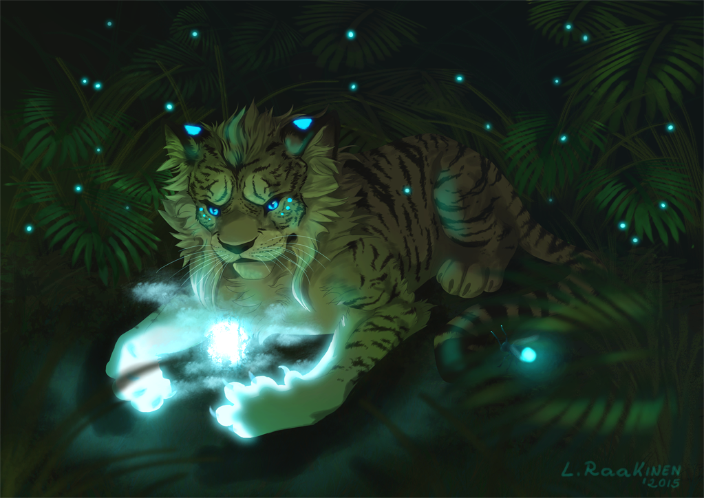 Forest magician by Perkelee