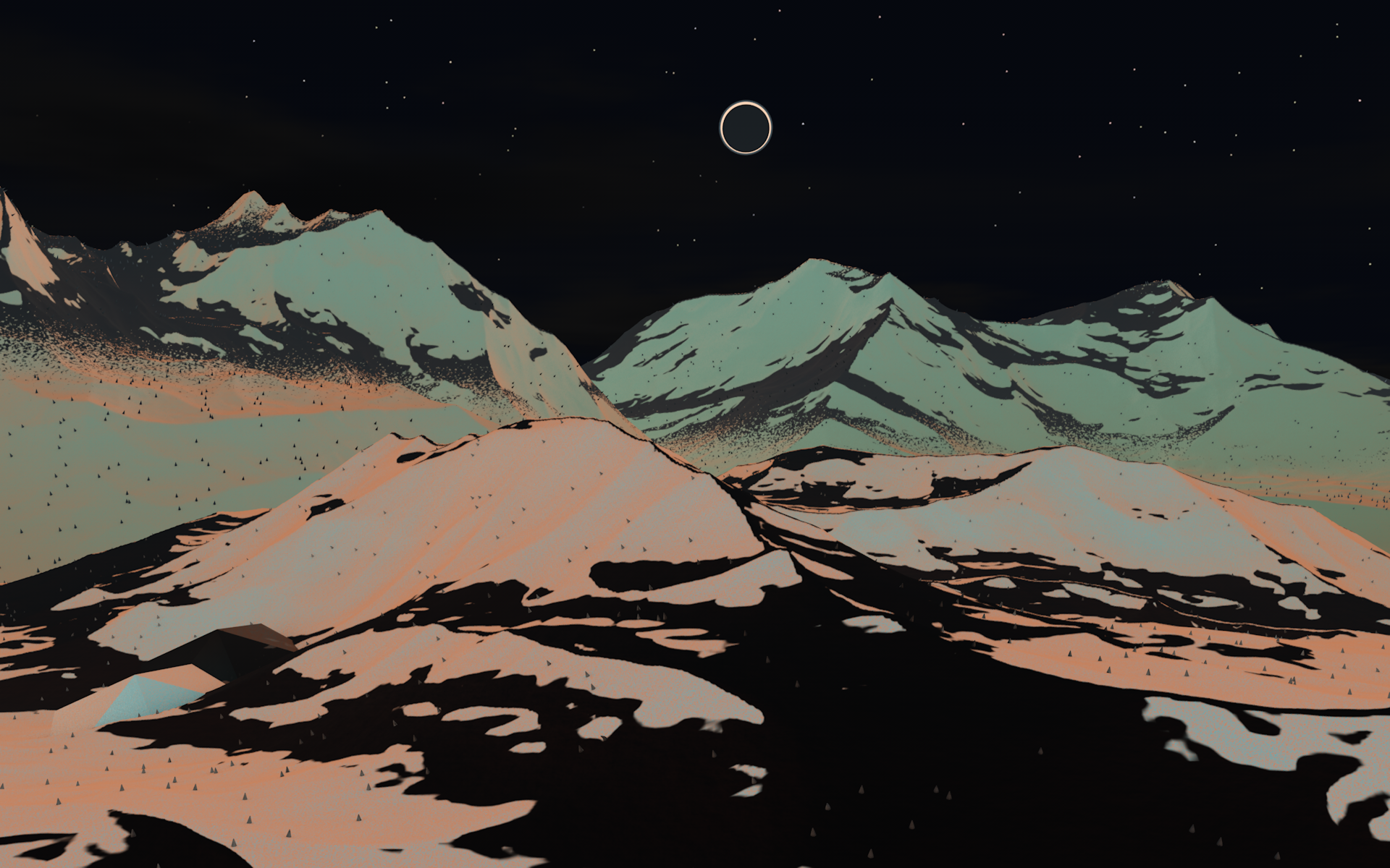 Must see Wallpaper Mountain Polygon - neon_mountain_by_recron-d6bfm9j  Pic_877796.png