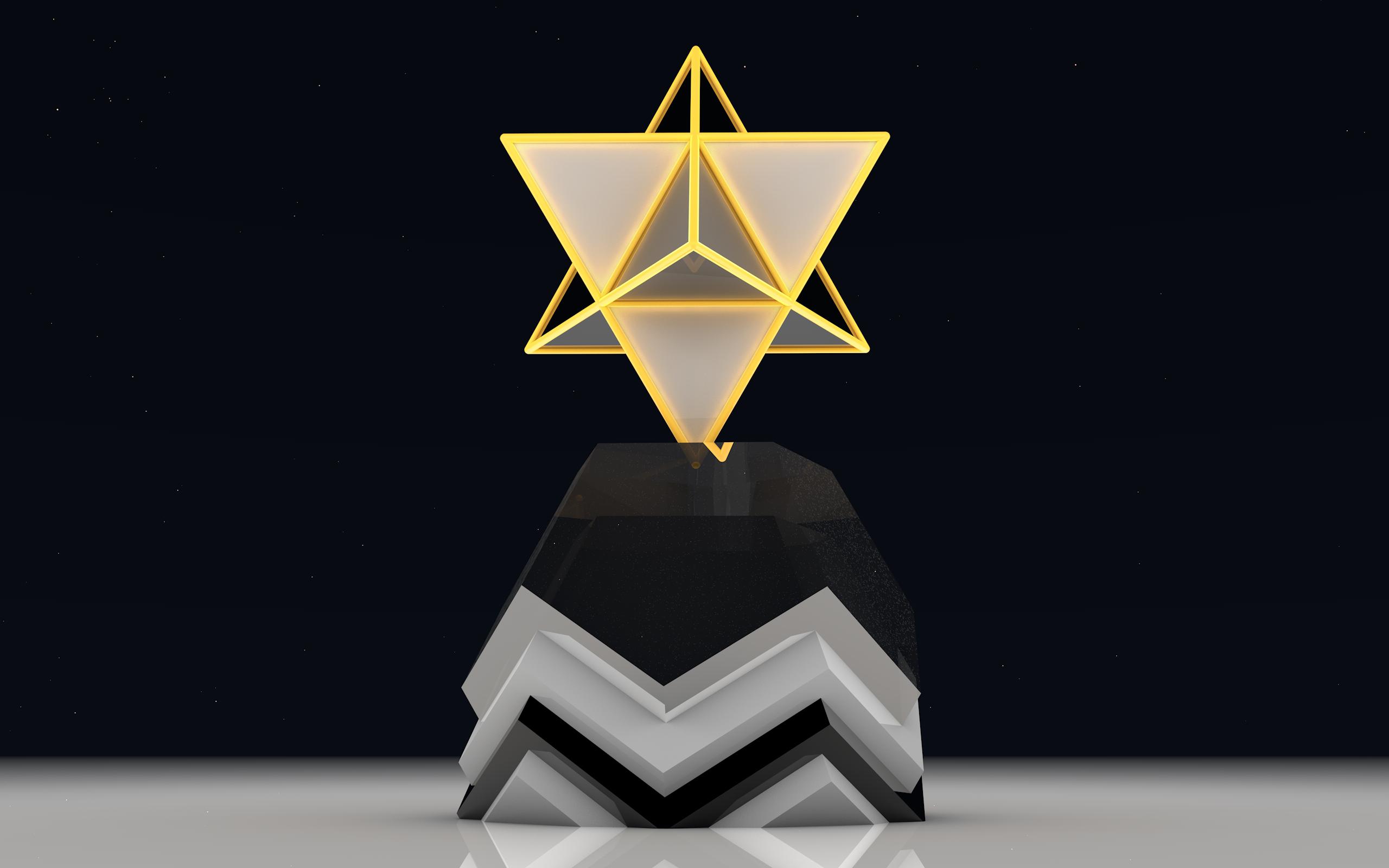 Star Tetrahedron By Lithium Polygon