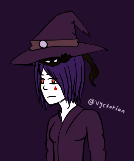 Oh It's You - Witch sketch - by Vyctorian