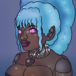 Black Fembot Profile image [Pateron reward] by Vyctorian
