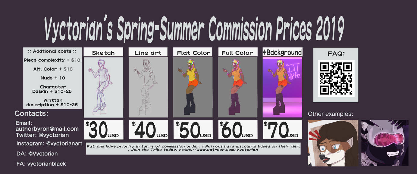 Commission Sheet Spring-Summer 2019 by Vyctorian