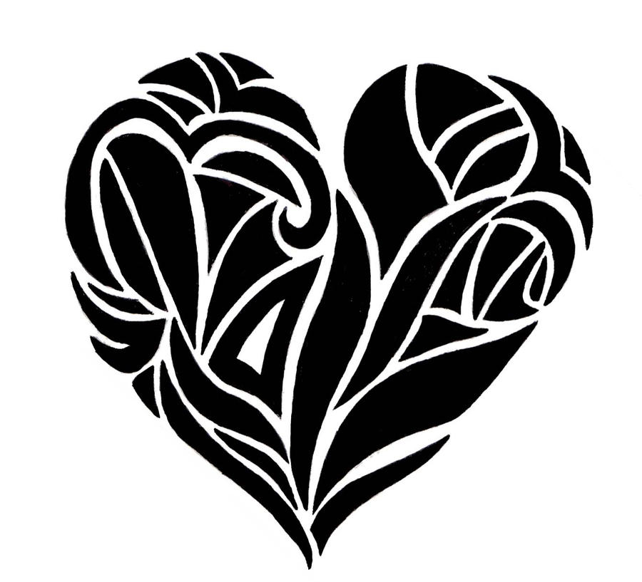 Drawings Of Tribal Hearts Tribal heart by MissLM...