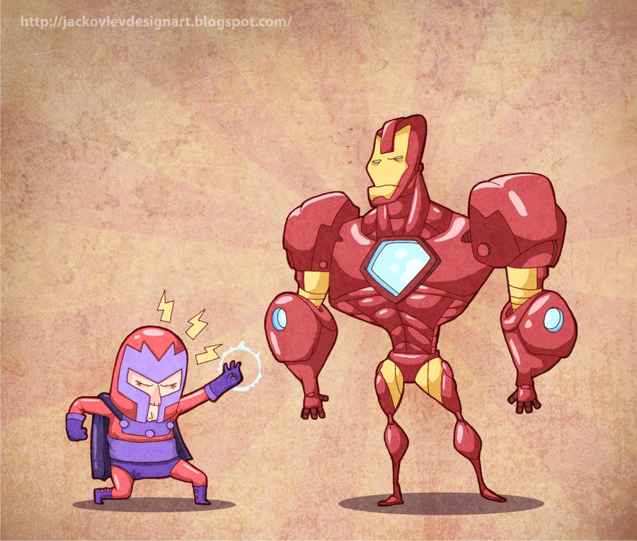 Ironman VS miniMagneto by lost-angel-less
