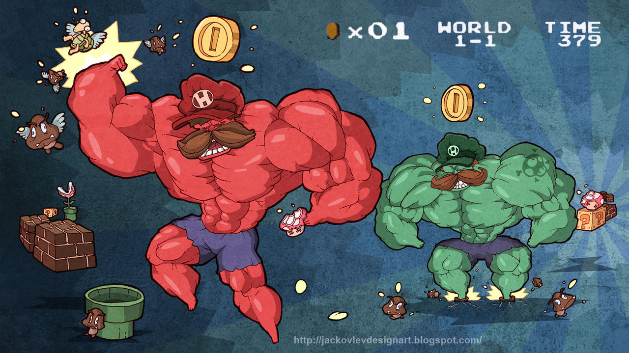 Super Hulk Bros by lost-angel-less