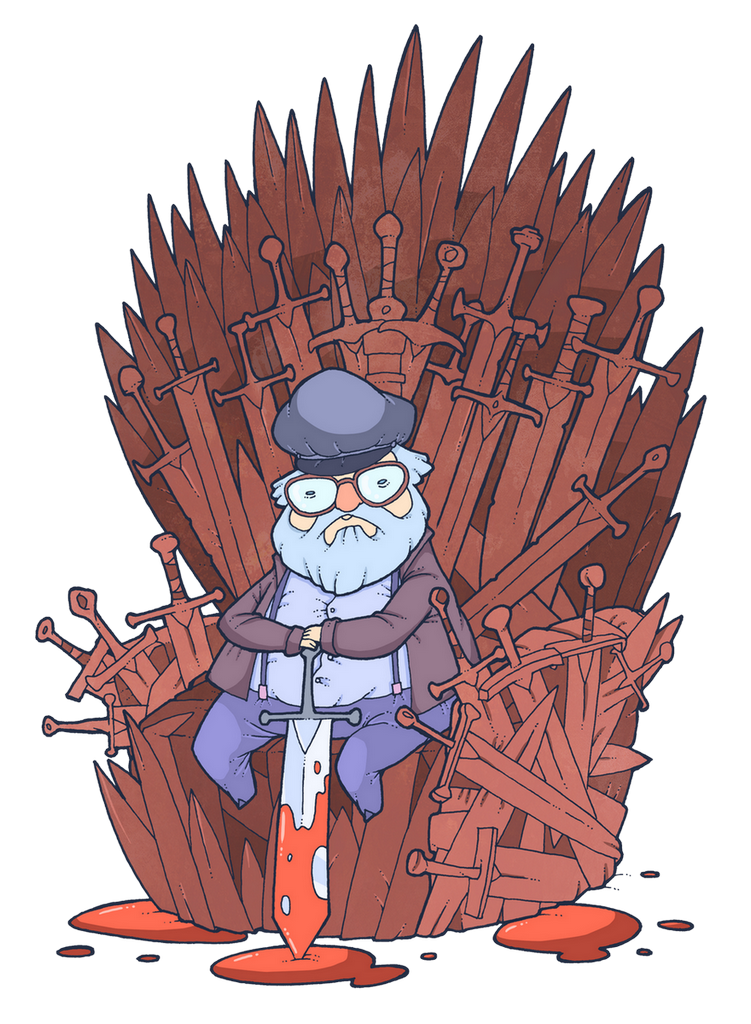 George R. R. Martin by lost-angel-less