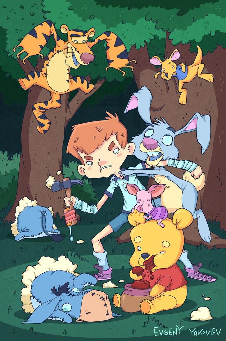 Winnie Zombie Pooh!!! by lost-angel-less