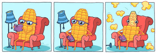 Corn and a book!