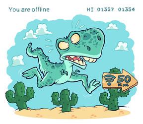 No connection - T-Rex Run!