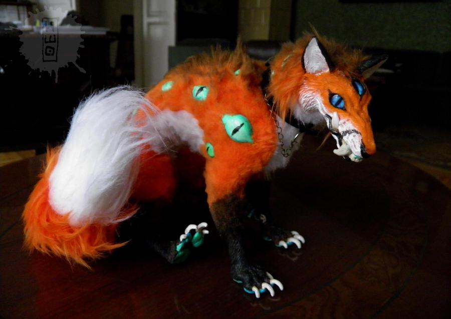 demonfox-OOAK art doll commission by hikigane