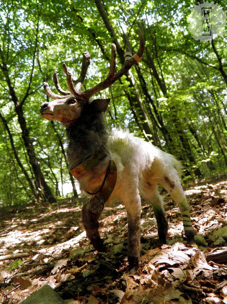 old prince - ooak deer art doll RESALE by hikigane