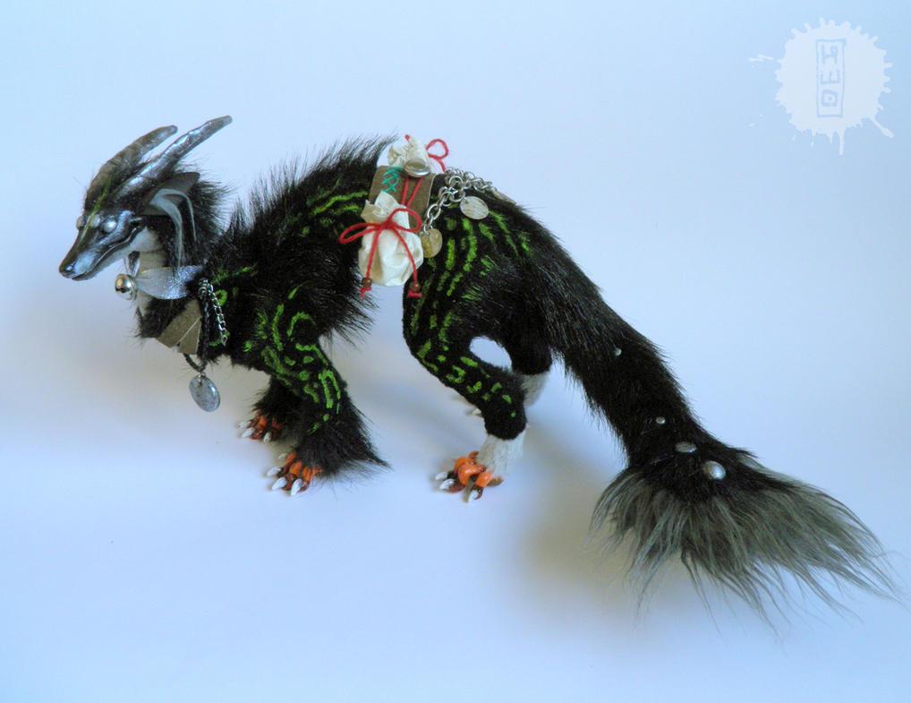 Silver Eye - Lucky Dragon art doll by hikigane