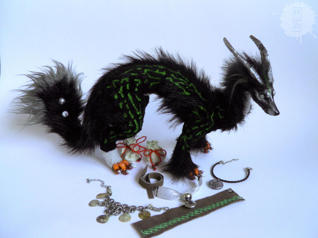 Silver Eye - Lucky Dragon art doll 2 by hikigane