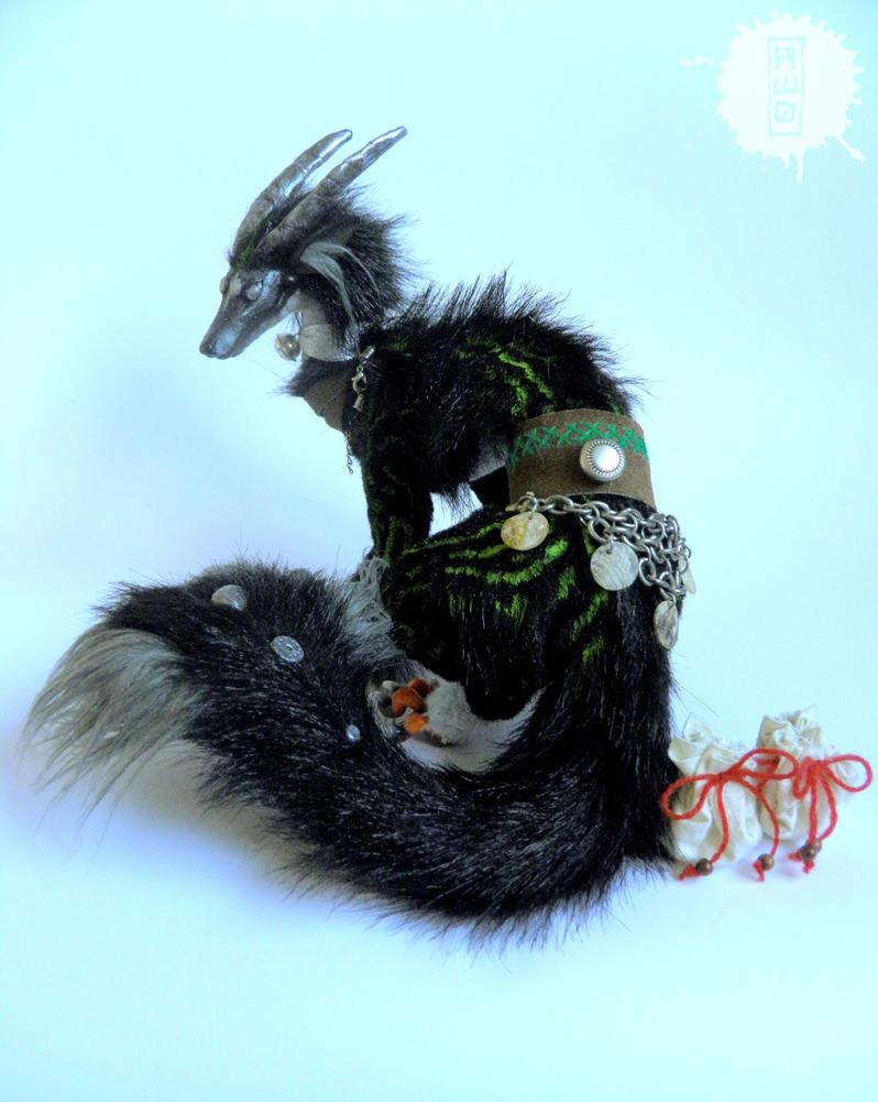Silver Eye - Lucky Dragon art doll 3 by hikigane