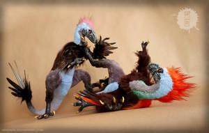 Mr. and Mrs. Raptor by hikigane