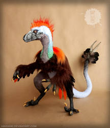 Mr. Raptor - OOAK Art Doll by hikigane
