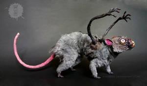 nosferatu the possessed rat - ooak art doll by hikigane