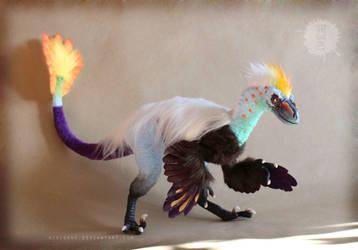 OOAK poseable Paradise Raptor by hikigane