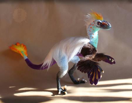 OOAK poseable Paradise Raptor