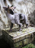 Little Trico ooak art doll with diorama box by hikigane