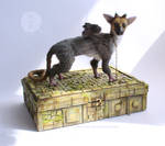 Little Trico ooak art doll with diorama box