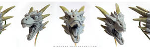 Dragon art doll head sculpt by hikigane