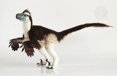 Dromaeosaurus raptor posable art doll