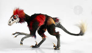 Mephisto the nightmare raptor art doll