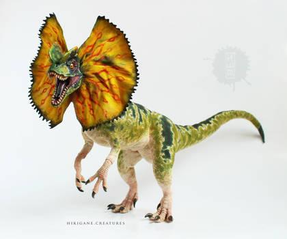 Jurassic Park Dilophosaurus posable  OOAK art doll