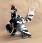 Merle MicroRaptor OOAK poseable art doll