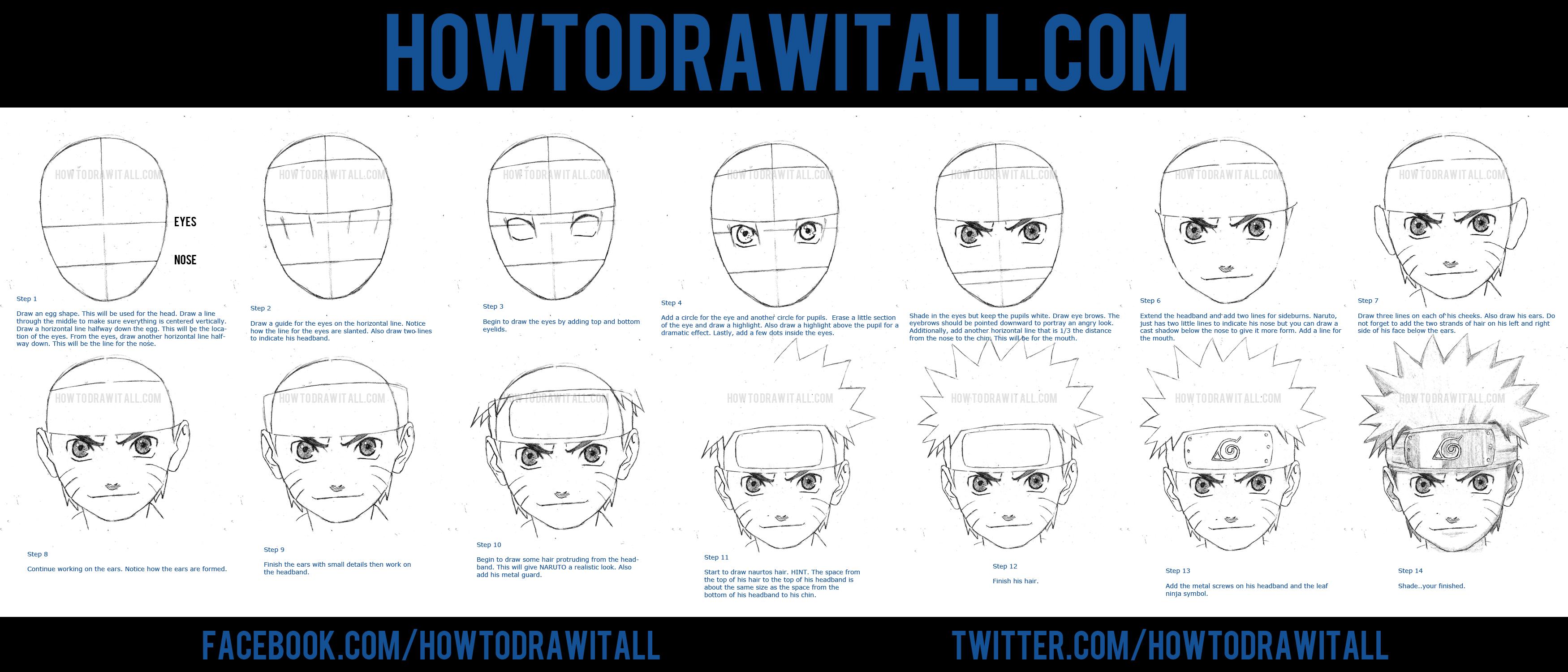 HOW TO DRAW NARUTO UZUMAKI by HowToDrawItAll