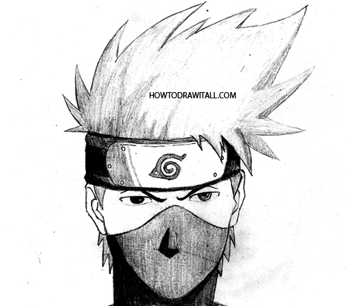 how to draw kakashi by howtodrawitall