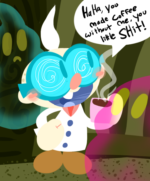 Little Coffee Guy by KrystalFleming
