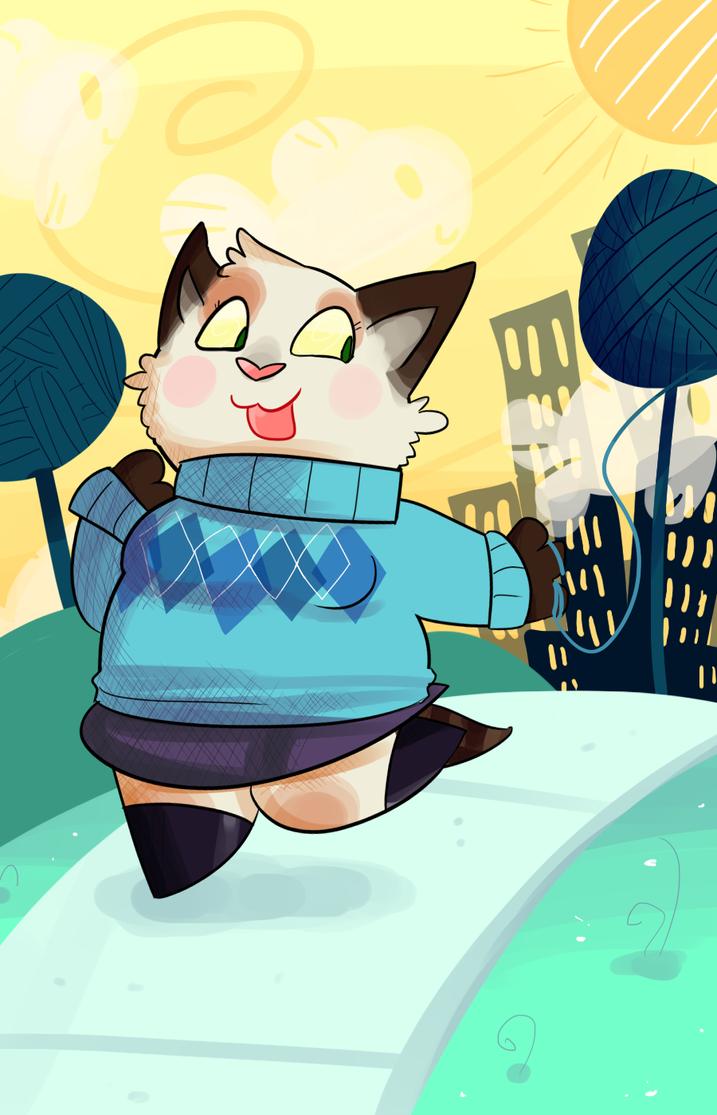 Cat City by KrystalFleming