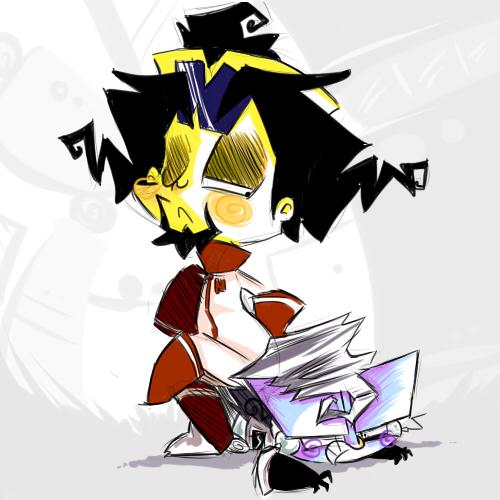 Cortex and Victor by KrystalFleming