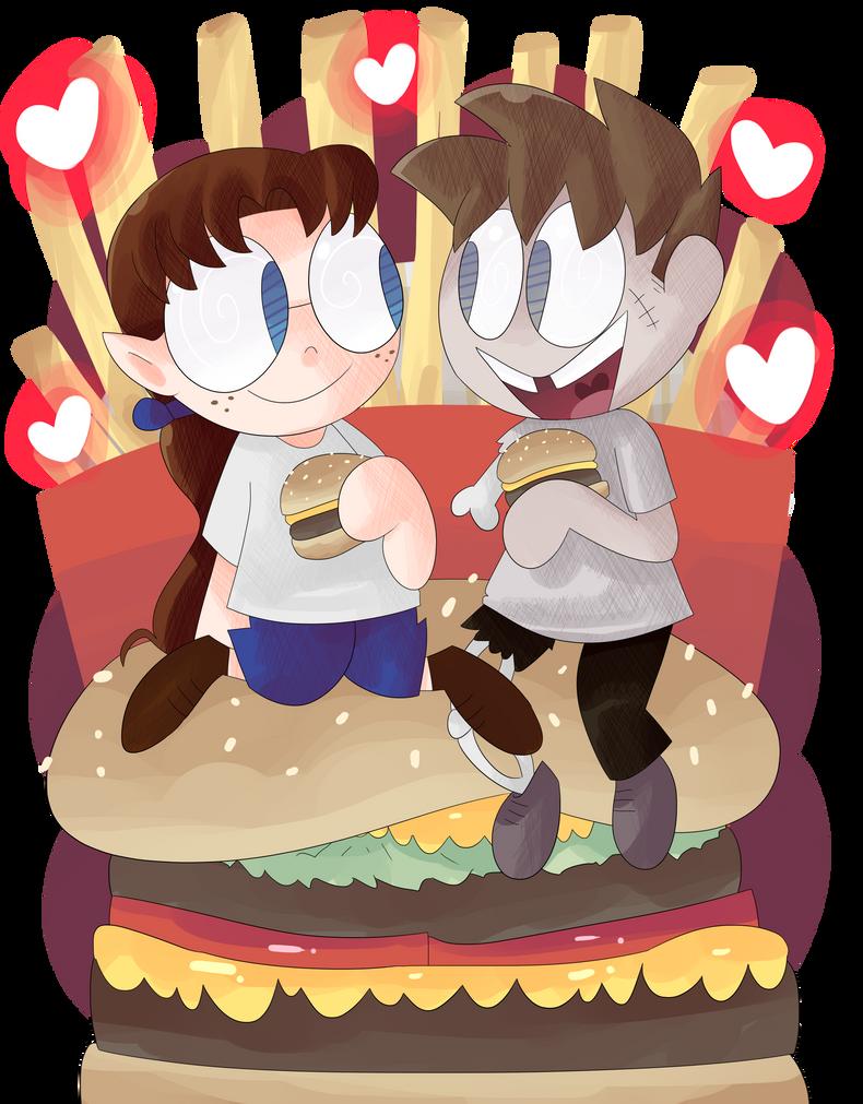 Burger Rain by KrystalFleming