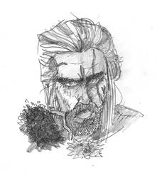 Geralt Bust Sketch by chaosking48