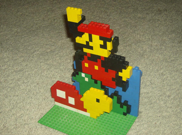 Mario Bros Lego by Obscuratio
