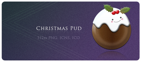 Christmas Pudding Icon by planetperki