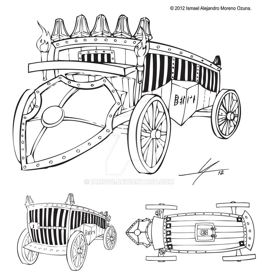 Medieval Police Car Sketch by IAMO76