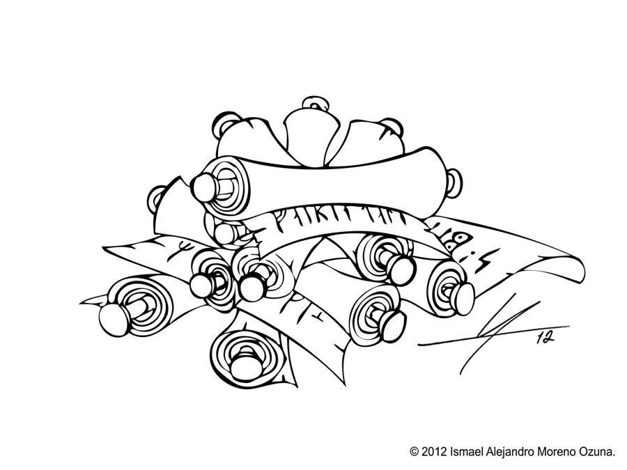 Pile of Scrolls Sketch by IAMO76