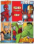 50 Years of Spider-Man Hulk Thor Ant-Man Iron Man
