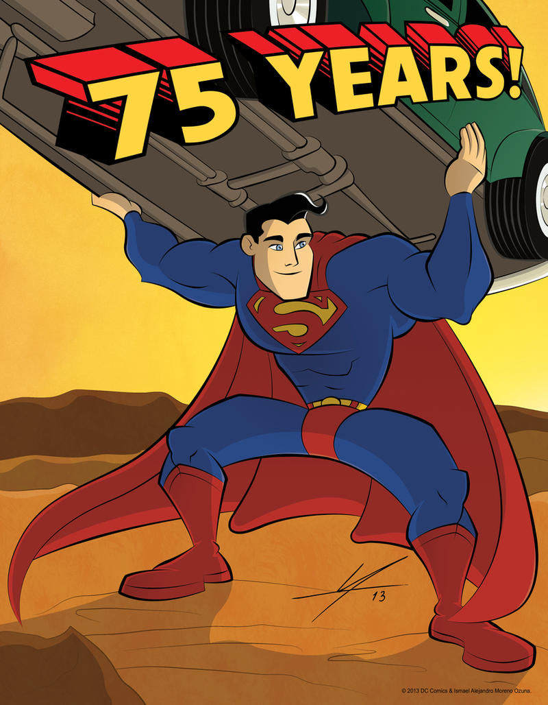 Superman - 75th Anniversary by IAMO76