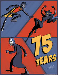 75th Anniversary of Robin, The Joker, and Catwoman