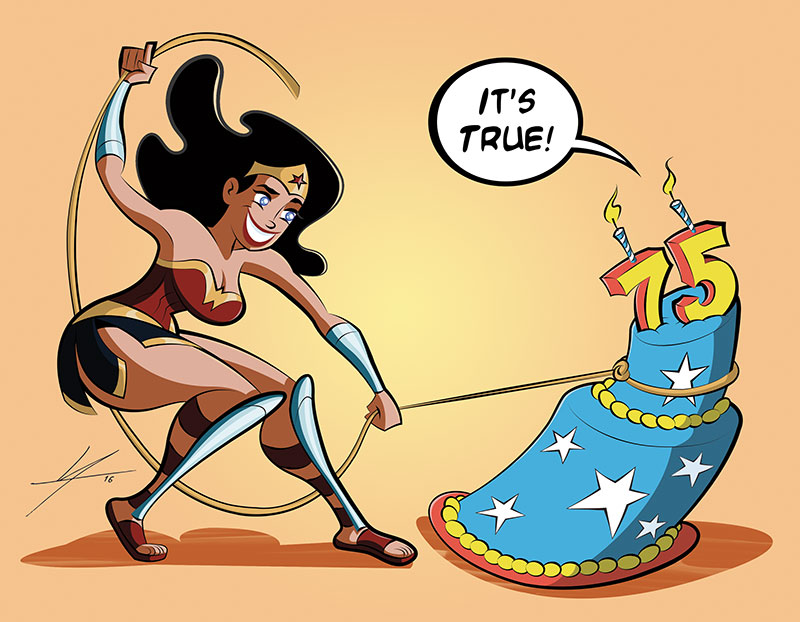 Wonder Woman 75th Anniversary by IAMO76