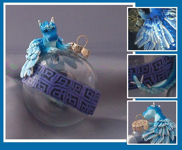 Blue Dragon ornament by Glori305