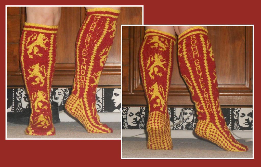 Gryffindor Socks by Glori305