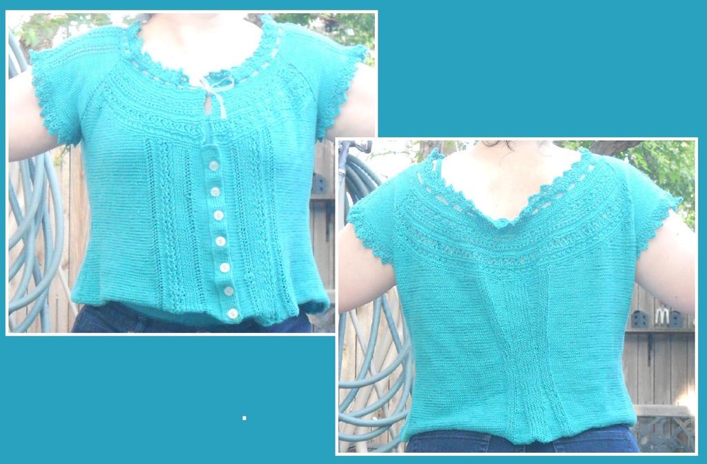 Teal Summer Sweater by Glori305