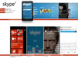 Skype WP7 Metro Concept by yankoa