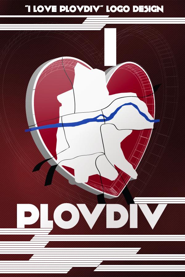 Logo design: I love Plovdiv by yankoa